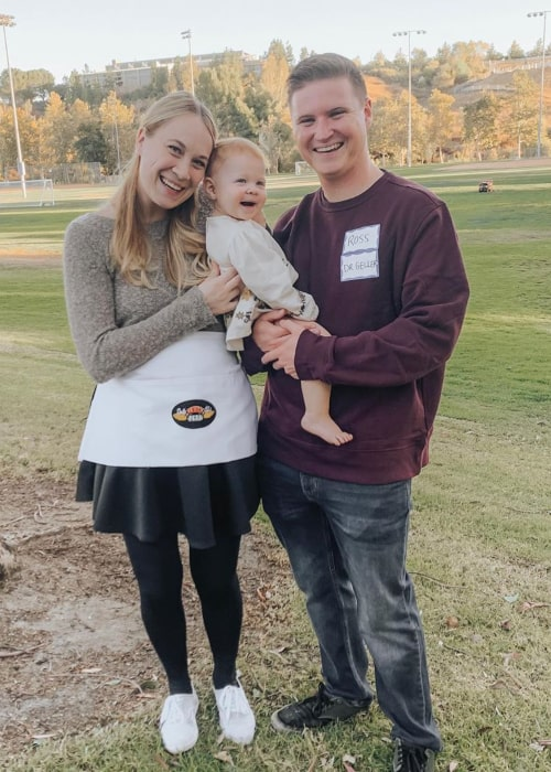 Rachelle Swannie with her family, as seen in October 2019