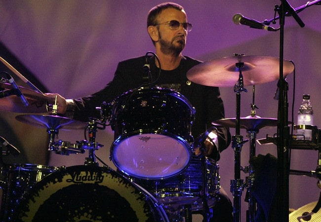 Ringo Starr during a performance in February 2013