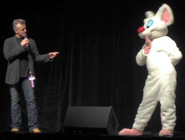Rob Paulsen (Left) and Pinky at the Anthrocon 2007 Masquerade