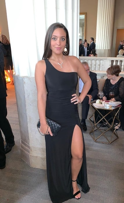 Sammi Giancola as seen during a wedding wearing a stunning dress in November 2019