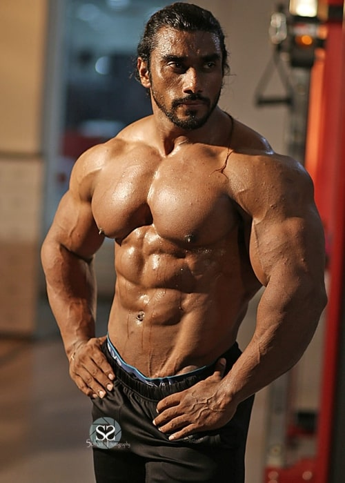 Sangram Chougule as seen in a picture taken at the gym in December 2019