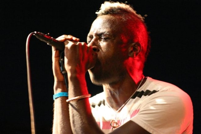 Saul Williams while performing during an event in August 2006