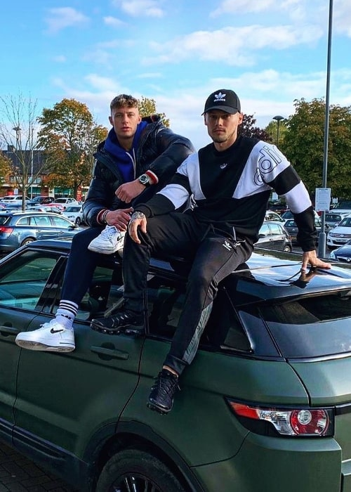Scotty T (Left) as seen while posing for the camera along with Scott Shearsmith in Newcastle upon Tyne, England in October 2019