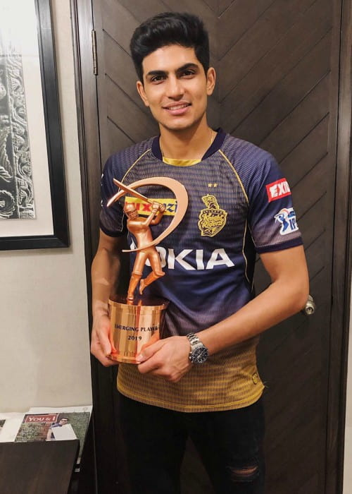 Shubman Gill as seen in May 2019