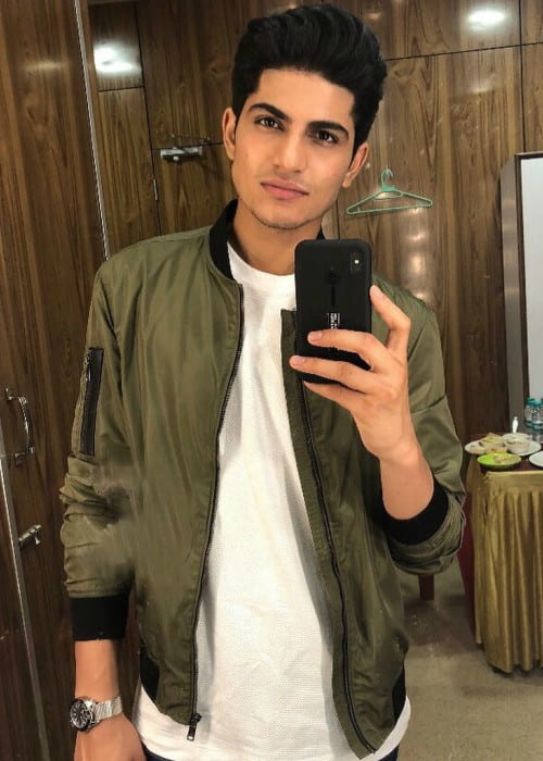 Shubman Gill in a selfie in September 2018