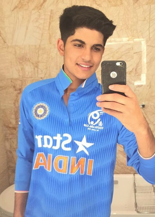 Shubman Gill in an Instagram selfie as seen in December 2016
