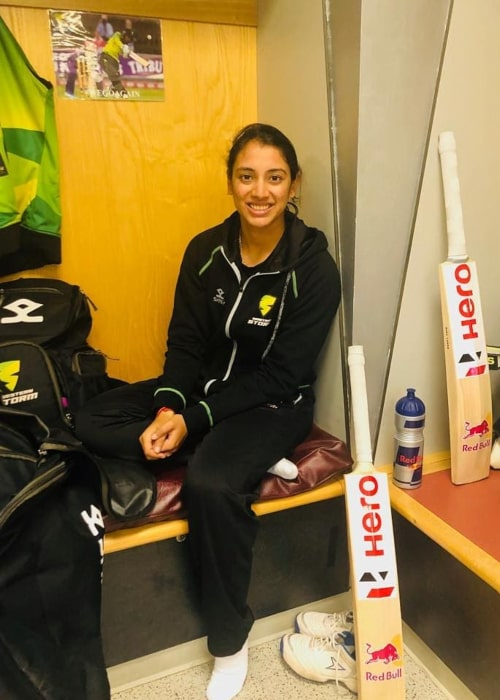 Smriti Mandhana as seen in an Instagram Post in August 2019