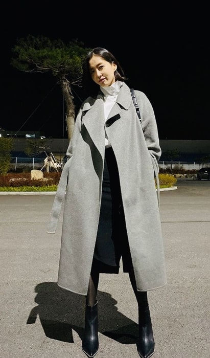 Song Yoon-ah as seen while posing for a picture in November 2019