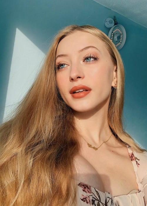 Sophia Diamond in a selfie as seen in January 2020