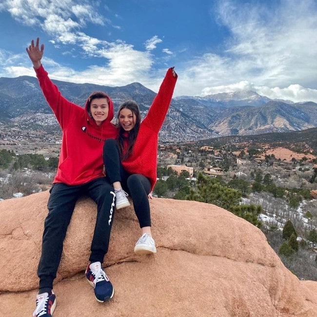 Sophie Gonzalez with her boyfriend Josh Gagnier as seen in January 2020