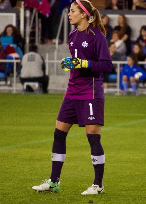 Stephanie Labbé as seen in a picture taken during a friendly match at Avaya Stadium, San Jose, California, on November 12, 2017