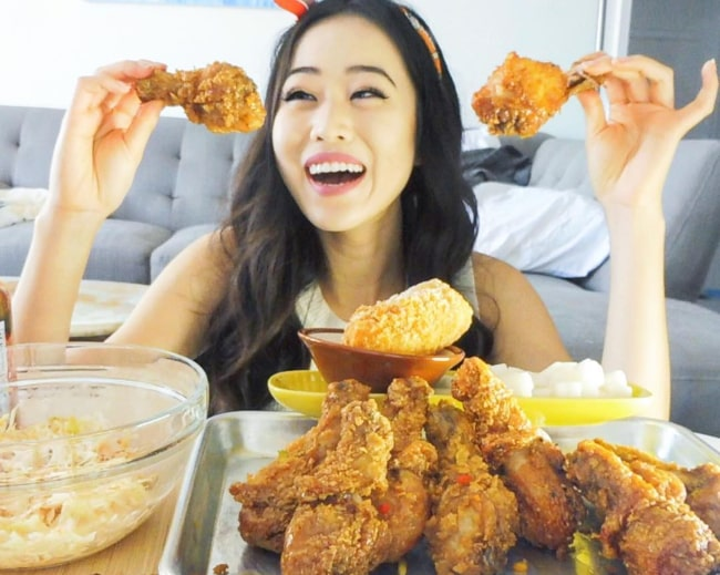 Stephanie Soo during the shoot of one of her YouTube videos in August 2017