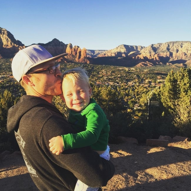 Steve Jocz as seen in an adorable picture with his baby in Sedona, Arizona, United States in November 2015