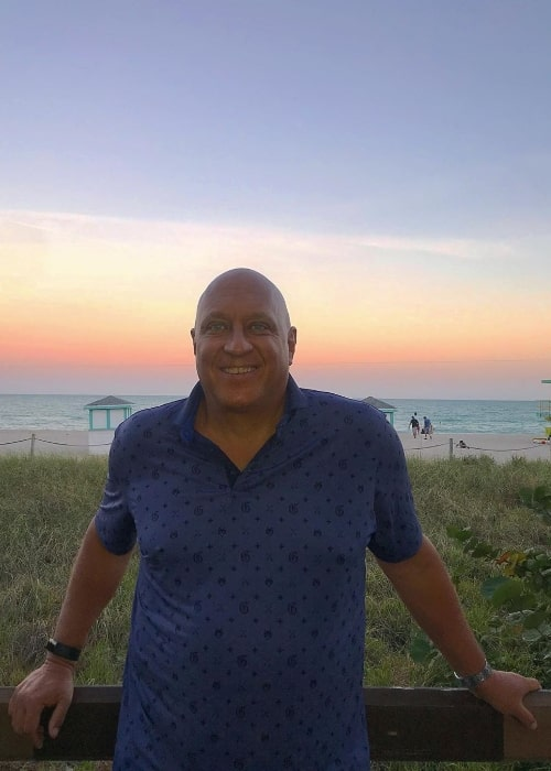 Steve Wilkos as seen while posing for a picture in Florida, United States in January 2020