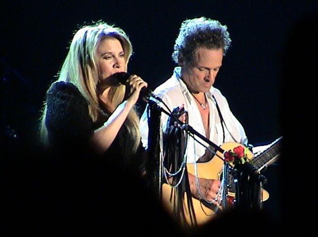 Stevie Nicks and Lindsey Buckingham performing at Oberhausen in Germany in 2003