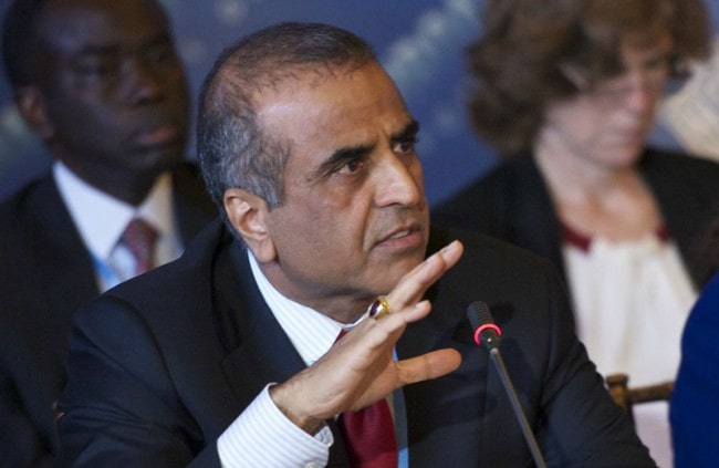 Sunil Bharti Mittal at the 8th meeting of the Broadband Commission in September 2013