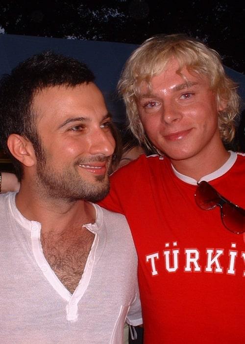 Tarkan (Left) as seen in a picture alongside Steiner Kristóf