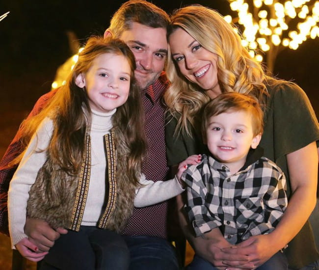 Taryn Terrell with her family as seen in December 2019