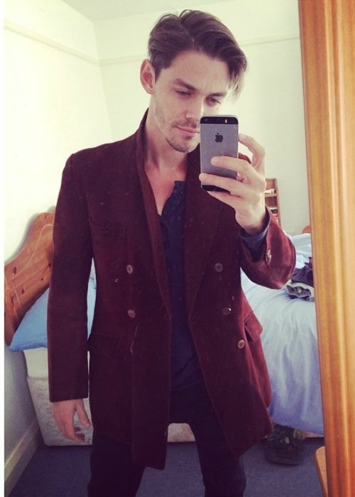 Tom Payne in a selfie in August 2014