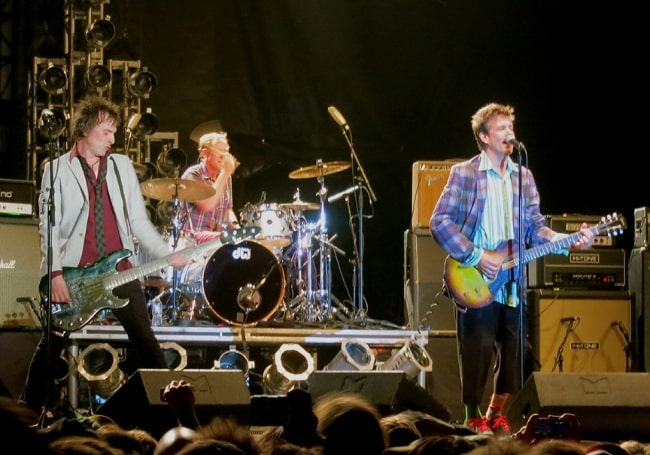 Tommy Stinson (Corner Left) performing with The Replacements at Riot Fest Toronto on August 25, 2013