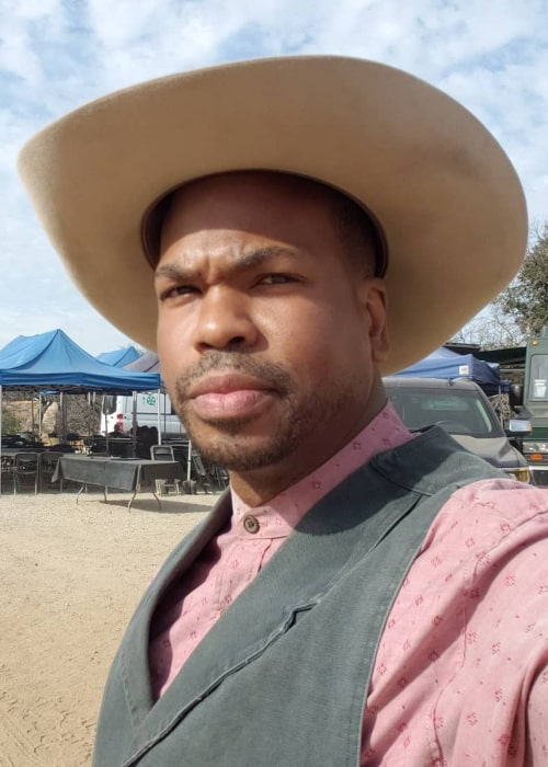 Tyrone Magnus at the sets of a TV Series in November 2019