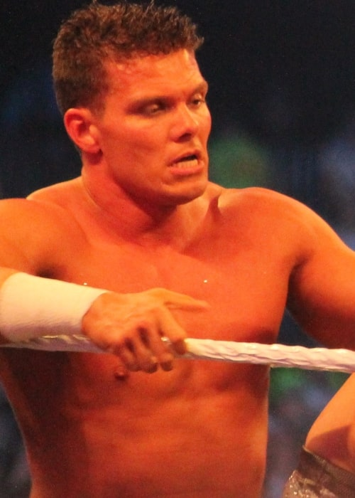 Tyson Kidd at WrestleMania XXX on 6 April 2014 in the Mercedes-Benz Superdome in New Orleans, Louisiana on April 6