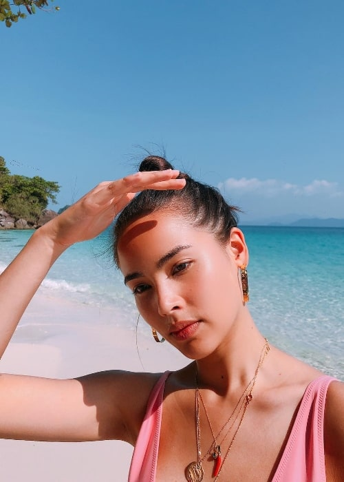 Urassaya Sperbund as seen while clicking a gorgeous selfie in November 2018