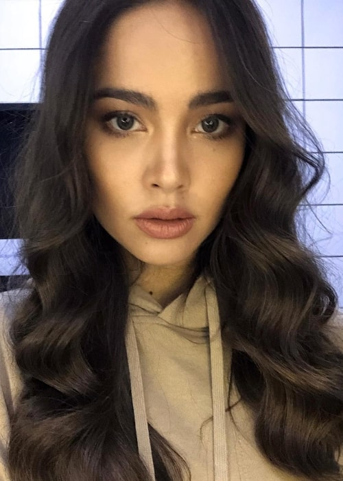 Urassaya Sperbund as seen while showing her hair in a selfie in February 2019
