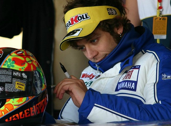 Valentino Rossi during an event in October 2007