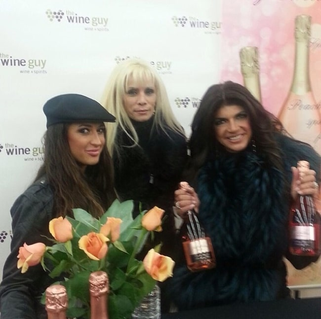 Victoria Gotti celebrating the taping of an episode of RHONJ