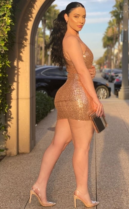 Viktoria Kay posing for a stunning shot in Los Angeles, California, United States in February 2020