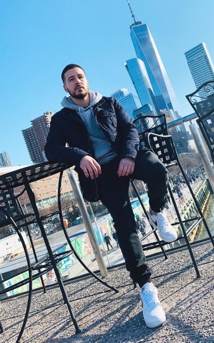 Vinny Guadagnino as seen while posing for a picture in Tribeca in New York City, New York in February 2020