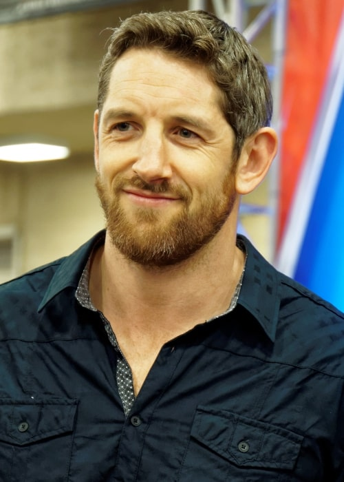 Wade Barrett as seen in a picture taken at WrestleMania 32 Axxess on March 31, 2016