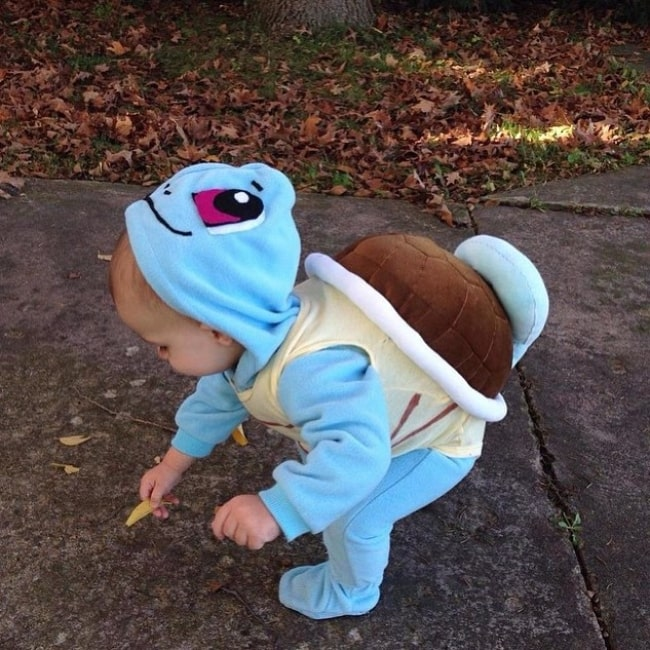 Wyatt Isabelle Kutcher as seen in a turtle outfit in July 2015