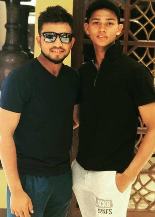 Yashasvi Jaiswal (Right) with his friend as seen in November 2019