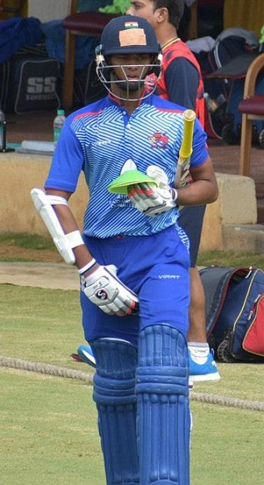 Yashasvi Jaiswal during the Vijay Hazare Trophy in October 2019