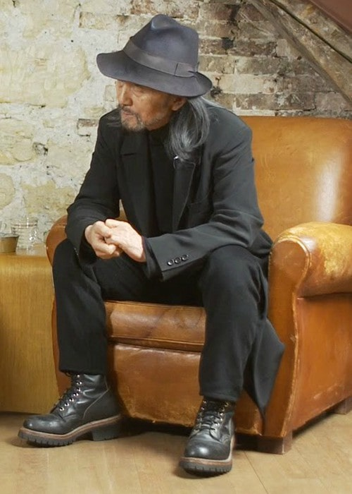 Yohji Yamamoto during an interview as seen in May 2016