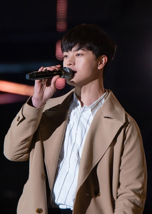 Yook Sung-jae as seen in April 2018