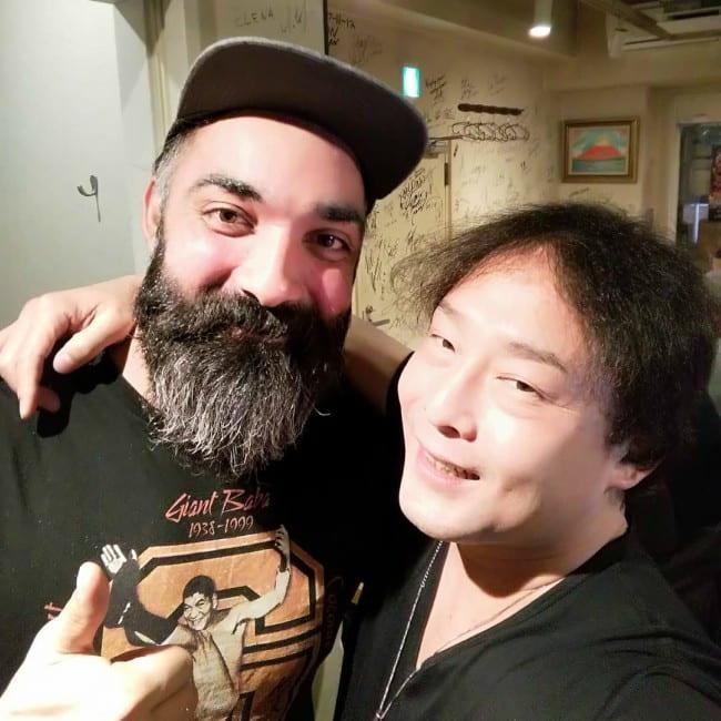 Yoshihiro Tajiri (Right) in a selfie with his friend as seen in November 2019