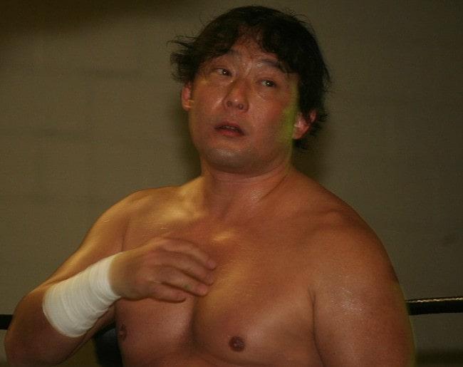 Yoshihiro Tajiri as seen in March 2018