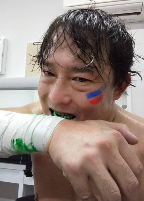 Yoshihiro Tajiri in an Instagram post as seen in November 2019