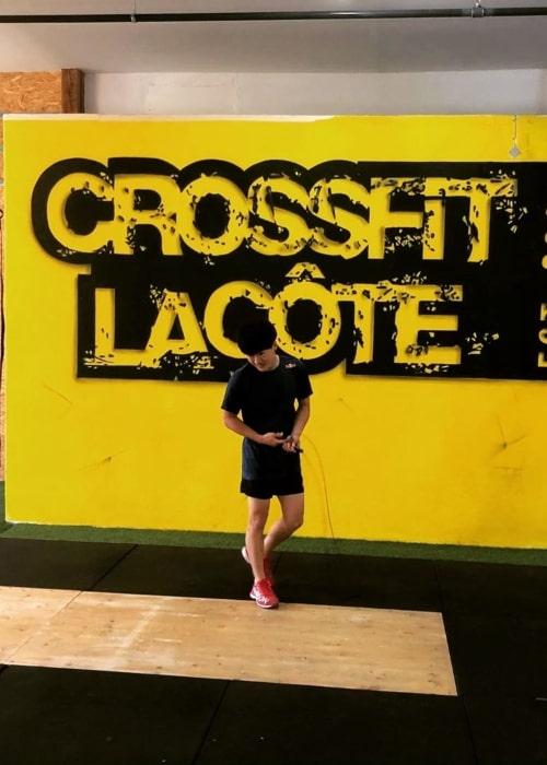 Yuki Tsunoda as seen in a picture taken at the CrossFit La Côte in Rolle, Switzerland in June 2019