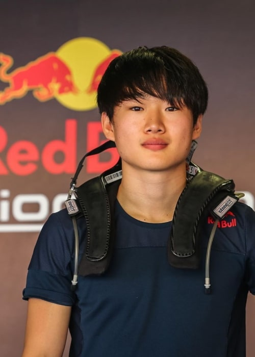 Yuki Tsunoda as seen in a picture taken at the Red Bull Junior Team event January 2020