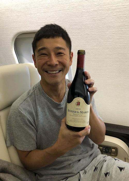 Yusaku Maezawa as seen in an Instagram Post in May 2019
