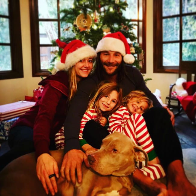 Zach McGowan with his family as seen in December 2017