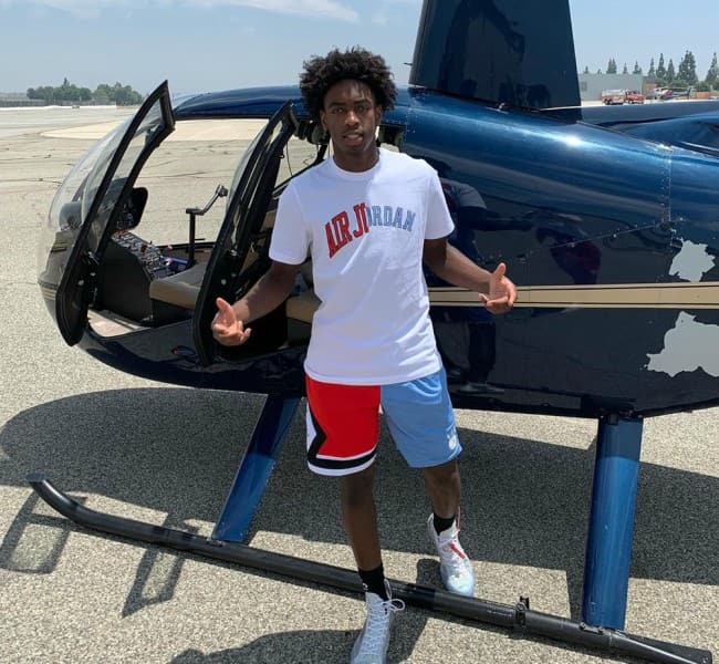 Zaire Wade in an Instagram post in July 2019