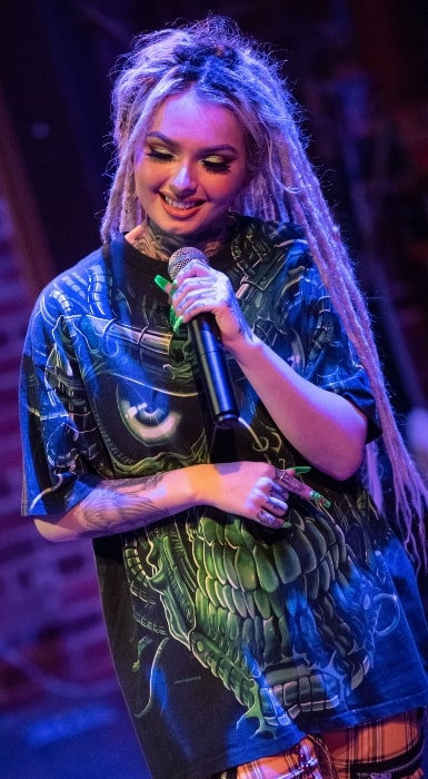 Zhavia Ward as seen while performing in Seattle, King County, Washington on November 17, 2019