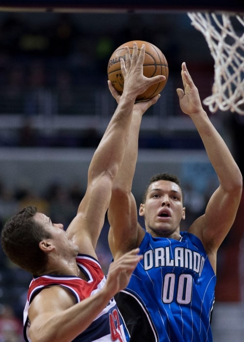 Aaron Gordon of the Orlando Magic in action against the Washington Wizards during the game on November 15, 2014 at Verizon Center in Washington, D.C.