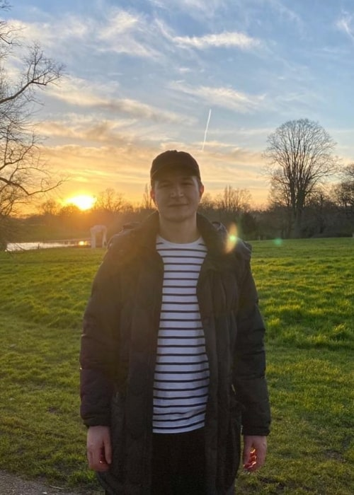 Alec Utgoff as seen in a picture taken in Hyde Park, London in March 2020