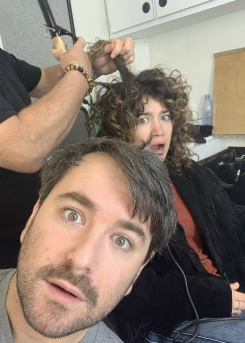 Alex Brightman and Sarah Stiles in a selfie in October 2019